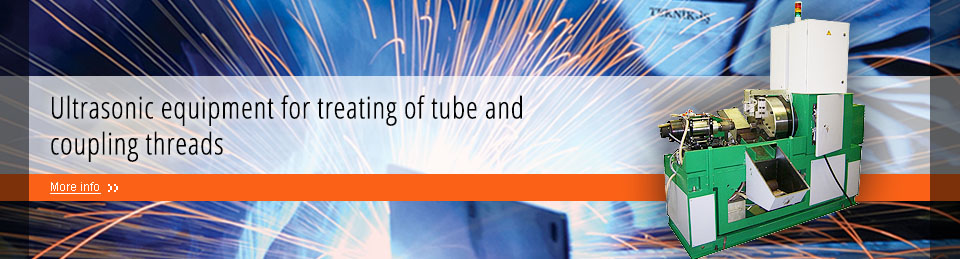 Ultrasonic equipment for treating of tube and coupling threads