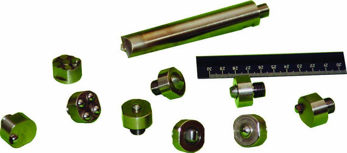 Различные виды инденторов для применения на установках ультразвуковой импульсной упрочняюще-чистовой обработки