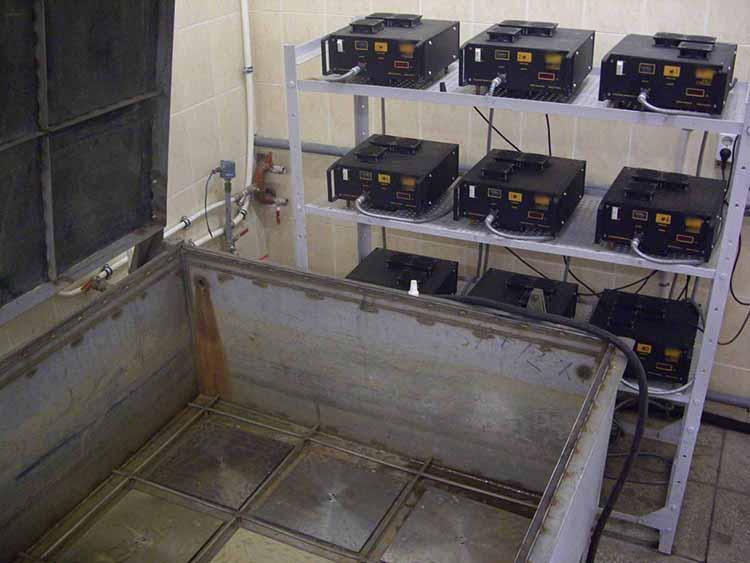 Ультразвуковая ванна с девятью излучателями ПМС-6/22.
