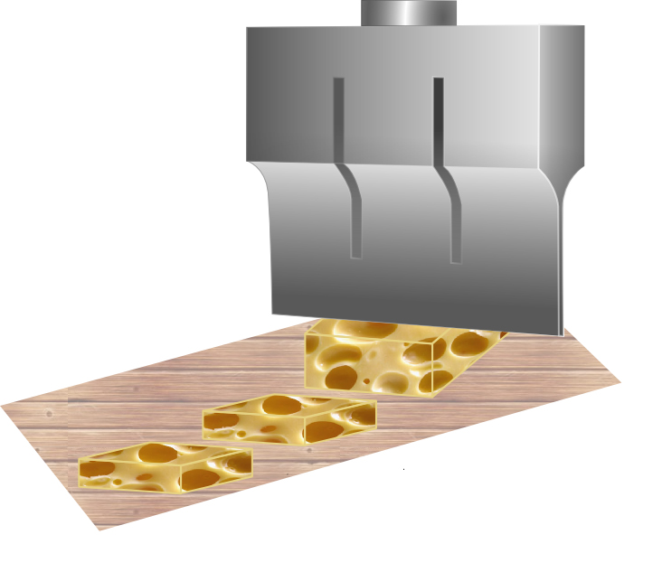 Ultrasonic knife for automatized cutting
